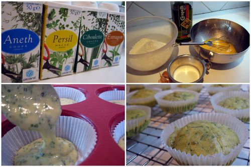 Cupcakes-herbes-chevre-montage