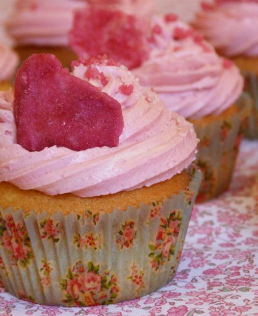 Cupcakes à la fraise - Elo les Cupcakes