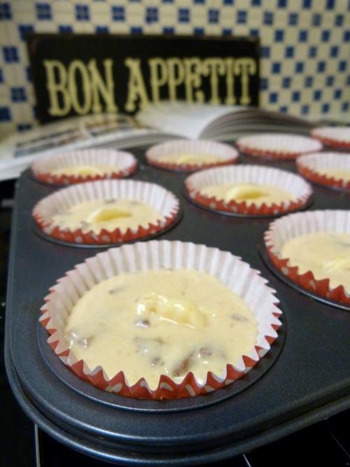 Muffins-banane-chocolat-caramel